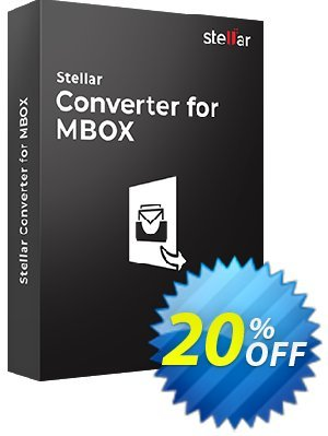 Stellar MBOX to PST Converter Coupon, discount Stellar Converter for MBOX amazing promo code 2019. Promotion: NVC Exclusive Coupon