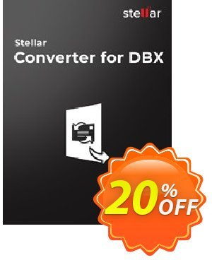 Stellar DBX to PST Converter Coupon, discount Stellar Converter for DBX [1 Year Subscription] awesome sales code 2019. Promotion: NVC Exclusive Coupon