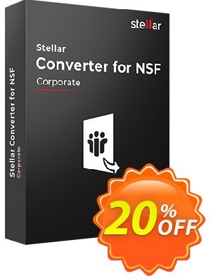 Stellar NSF to PST Converter Coupon, discount Stellar Converter for NSF Corporate [1 Year Subscription] awful offer code 2019. Promotion: NVC Exclusive Coupon