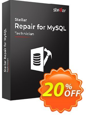 Stellar Phoenix Database Repair for MySQL Coupon, discount Stellar Repair for MYSQL fearsome offer code 2019. Promotion: NVC Exclusive Coupon