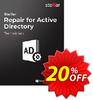 Stellar Repair for Active Directory 優惠券,折扣碼 NVC Exclusive Coupon,促銷代碼: NVC Exclusive Coupon