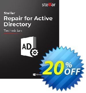 Stellar Repair for Active Directory Coupon, discount 20% OFF Stellar Repair for Active Directory, verified. Promotion: Stirring discount code of Stellar Repair for Active Directory, tested & approved