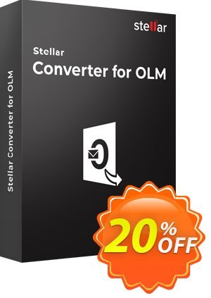 Stellar OLM to PST Converter 優惠券,折扣碼 Stellar Converter for OLM - SOHO [1 Year Subscription] hottest promo code 2020,促銷代碼: NVC Exclusive Coupon