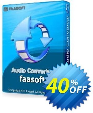 Faasoft Audio Converter offering sales Faasoft Audio Converter fearsome discounts code 2019. Promotion: