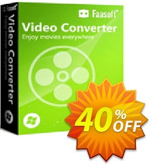 Faasoft Video Converter Coupon discount 40% OFF 2019 -