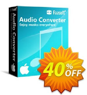 Faasoft Audio Converter for Mac Coupon discount 40% OFF 2017. Promotion: