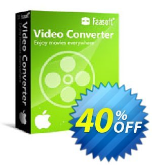 Faasoft Video Converter for Mac Coupon discount 40% OFF 2017. Promotion: