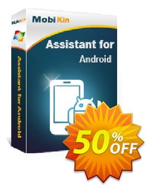 MobiKin Assistant for Android - 1 Year, 26-30PCs License discount coupon 50% OFF -