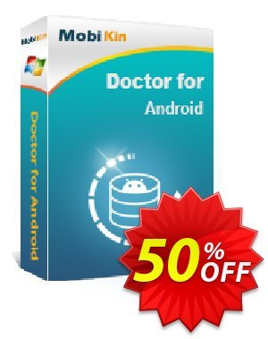 MobiKin Doctor for Android - Lifetime, 9 Devices, 3 PCs License Coupon, discount 50% OFF. Promotion: