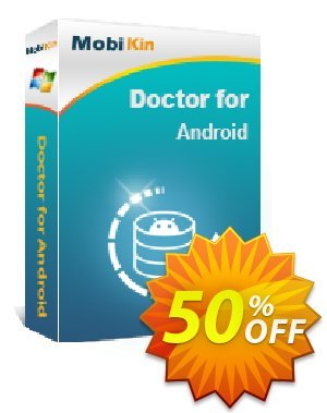 MobiKin Doctor for Android - Lifetime, Unlimited Devices, 1 PC License Coupon, discount 50% OFF. Promotion: