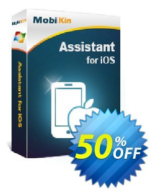 MobiKin Assistant for iOS - 1 Year, 1 PC License Coupon discount 50% OFF. Promotion: