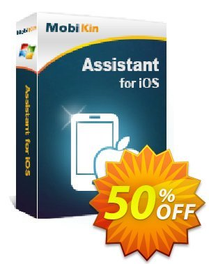 MobiKin Assistant for iOS - 1 Year, 2-5 PCs License Coupon, discount 50% OFF. Promotion: