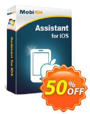 MobiKin Assistant for iOS - 1 Year, 26-30PCs License Coupon, discount 50% OFF. Promotion: