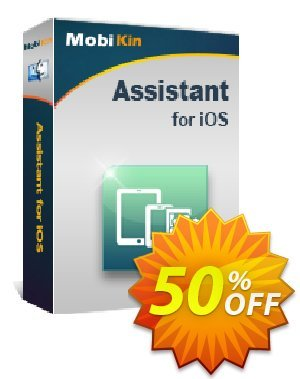 MobiKin Assistant for iOS (Mac Version) - Lifetime, 11-15PCs License Coupon, discount 50% OFF. Promotion: