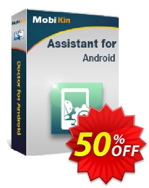 MobiKin Assistant for Android (Mac) - Lifetime, 2-5PCs License Coupon, discount 50% OFF. Promotion: