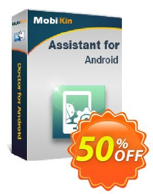 MobiKin Assistant for Android (Mac) - Lifetime, 11-15PCs License Coupon, discount 50% OFF. Promotion: