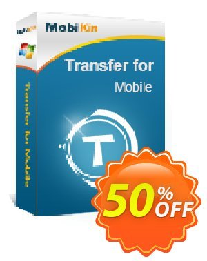 MobiKin Transfer for Mobile - 1 Year, 2-5 PCs License Coupon, discount 50% OFF. Promotion: