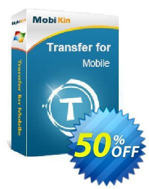 MobiKin Transfer for Mobile - 1 Year, 26-30PCs License Coupon, discount 50% OFF. Promotion: