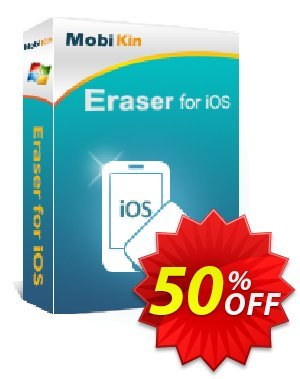 MobiKin Eraser for iOS - 1 Year, 6-10PCs License Coupon discount 50% OFF. Promotion: