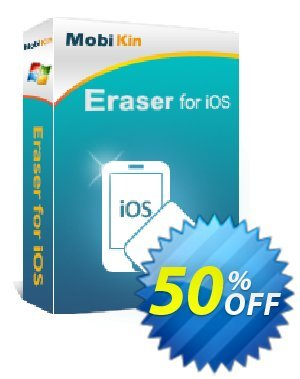 MobiKin Eraser for iOS - 1 Year, 26-30PCs License Coupon, discount 50% OFF. Promotion: