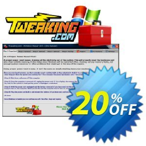 Tweaking.com Windows Repair Pro v4 (Yearly Tech License)割引コード・Tweaking.com - Windows Repair 2020 Pro v4 - Individual Yearly Tech License big offer code 2020 キャンペーン:big offer code of Tweaking.com - Windows Repair 2020 Pro v4 - Individual Yearly Tech License 2020