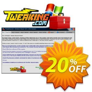 Tweaking.com Windows Repair Pro v3 to v4 Upgrade Coupon, discount Tweaking.com - Windows Repair Pro v3 to v4 Upgrade fearsome sales code 2021. Promotion: fearsome sales code of Tweaking.com - Windows Repair Pro v3 to v4 Upgrade 2021