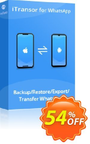 iTransor for WhatsApp 優惠券,折扣碼 54% OFF iTransor for WhatsApp, verified,促銷代碼: Awful offer code of iTransor for WhatsApp, tested & approved