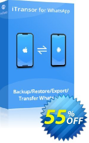 iTransor for WhatsApp Mac Version (15 Devices/Lifetime) 프로모션 코드 55% OFF iTransor for WhatsApp Mac Version (15 Devices/Lifetime), verified 프로모션: Awful offer code of iTransor for WhatsApp Mac Version (15 Devices/Lifetime), tested & approved