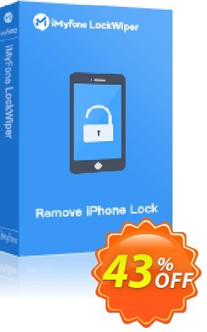 iMyFone LockWiper for Mac (Lifetime/6-10 iDevices) Coupon discount You Are Purchasing iMyFone LockWiper for Mac discount (56732). Promotion: iMyfone promo code