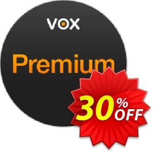 VOX Premium Coupon, discount 30% OFF VOX Premium, verified. Promotion: Formidable discounts code of VOX Premium, tested & approved