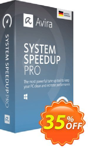 Avira System Speedup Pro (2 year) Coupon, discount 45% OFF Avira System Speedup Pro (2 year), verified. Promotion: Fearsome promotions code of Avira System Speedup Pro (2 year), tested & approved