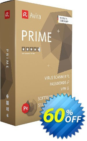 Avira Prime 1 year Coupon, discount 60% OFF Avira Prime 1 year, verified. Promotion: Fearsome promotions code of Avira Prime 1 year, tested & approved