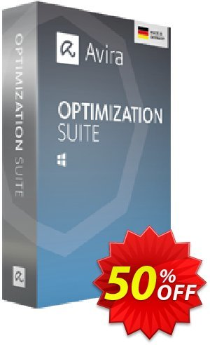 Avira Optimization Suite Coupon, discount 50% OFF Avira Optimization Suite, verified. Promotion: Fearsome promotions code of Avira Optimization Suite, tested & approved