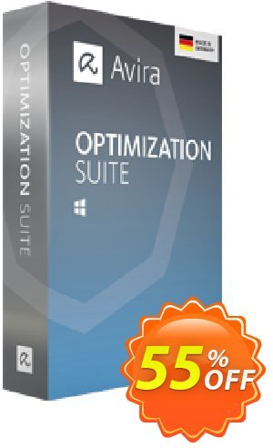 Avira Optimization Suite (1 year) Coupon, discount 50% OFF Avira Optimization Suite (1 year), verified. Promotion: Fearsome promotions code of Avira Optimization Suite (1 year), tested & approved