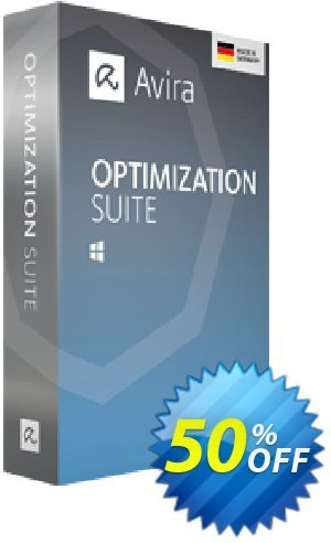 Avira Optimization Suite (2 years) Coupon, discount 50% OFF Avira Optimization Suite (2 year), verified. Promotion: Fearsome promotions code of Avira Optimization Suite (2 year), tested & approved