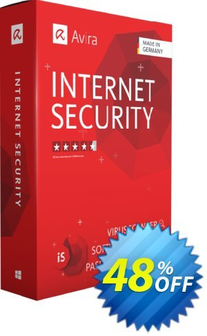 Avira Internet Security (2 years) Coupon, discount 48% OFF Avira Internet Security (2 years), verified. Promotion: Fearsome promotions code of Avira Internet Security (2 years), tested & approved