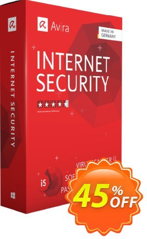Avira Internet Security (3 years) Coupon, discount 45% OFF Avira Internet Security (3 years), verified. Promotion: Fearsome promotions code of Avira Internet Security (3 years), tested & approved
