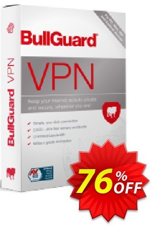 BullGuard VPN Coupon, discount 76% OFF BullGuard VPN, verified. Promotion: Awesome promo code of BullGuard VPN, tested & approved