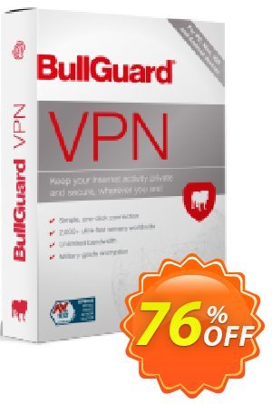 BullGuard VPN 2-year plan 優惠券,折扣碼 76% OFF BullGuard VPN 2-year plan, verified,促銷代碼: Awesome promo code of BullGuard VPN 2-year plan, tested & approved
