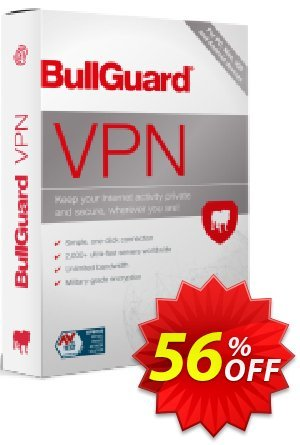 BullGuard VPN 1-year plan discount coupon 46% OFF BullGuard VPN 1-year plan, verified - Awesome promo code of BullGuard VPN 1-year plan, tested & approved