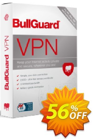 BullGuard VPN 1-year plan Coupon, discount 46% OFF BullGuard VPN 1-year plan, verified. Promotion: Awesome promo code of BullGuard VPN 1-year plan, tested & approved