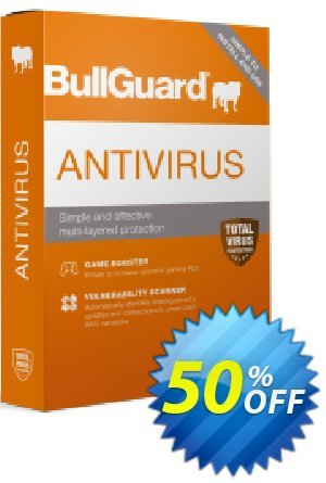 BullGuard Antivirus 2021 (1 year / 1 PC) Coupon, discount BullGuard 2021 Antivirus 1-Year 1-PC at USD$19.95 marvelous offer code 2021. Promotion: marvelous offer code of BullGuard 2021 Antivirus 1-Year 1-PC at USD$19.95 2021