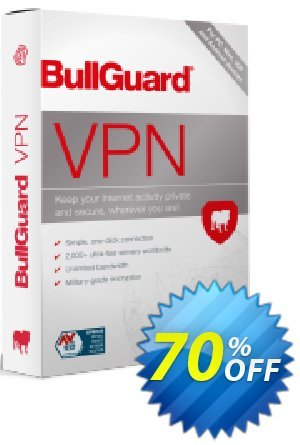 BullGuard VPN 3-year plan Coupon, discount 70% OFF BullGuard VPN 3-year plan, verified. Promotion: Awesome promo code of BullGuard VPN 3-year plan, tested & approved