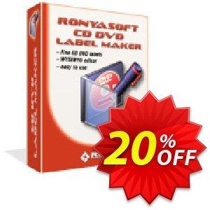 Ronyasoft CD DVD Label Maker (Enterprise license) discount coupon 20% OFF Ronyasoft CD DVD Label Maker, verified - Amazing promotions code of Ronyasoft CD DVD Label Maker, tested & approved