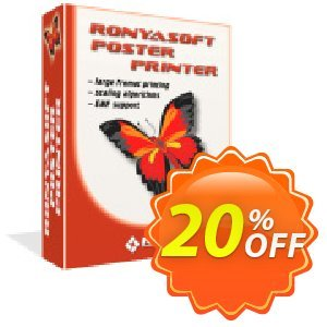 RonyaSoft Poster Printer (Business license) discount coupon 20% OFF RonyaSoft Poster Printer, verified - Amazing promotions code of RonyaSoft Poster Printer, tested & approved