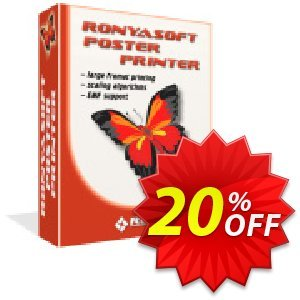 RonyaSoft Poster Printer (Enterprise license) discount coupon 20% OFF RonyaSoft Poster Printer (Enterprise license), verified - Amazing promotions code of RonyaSoft Poster Printer (Enterprise license), tested & approved