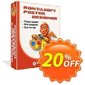 RonyaSoft Poster Designer discount coupon 20% OFF RonyaSoft Poster Designer, verified - Amazing promotions code of RonyaSoft Poster Designer, tested & approved