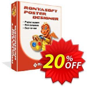 RonyaSoft Poster Designer (Business license) Coupon discount 20% OFF RonyaSoft Poster Designer, verified