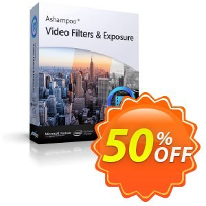 Ashampoo Video Filters and Exposure Coupon, discount 50% OFF Ashampoo Video Filters and Exposure, verified. Promotion: Wonderful discounts code of Ashampoo Video Filters and Exposure, tested & approved