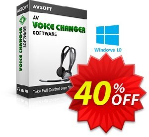 AV Voice Changer Software Coupon discount Av voice changer discount Kick Start 2019. Promotion: 20% AV Voice Changer Software Discount AVSO-30OFFALL; AVSO-MC5H-BLHP
